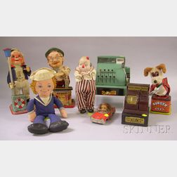 Eight Mid-20th Century Toys