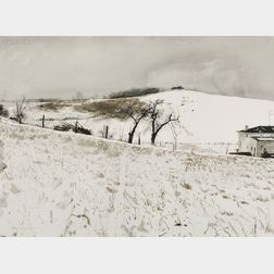 Andrew Wyeth (American, 1917-2009)      Fence Line