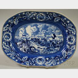 "Historical Blue Transferware ""Pickett's Charge"" Platter"