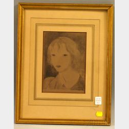 After Marie Laurencin (French, 1885-1956)      Head of a Girl.