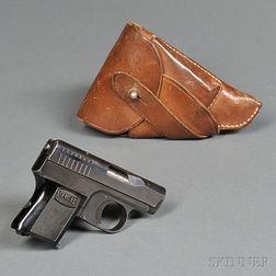 Mauser WTP-1 Pocket Pistol and Holster