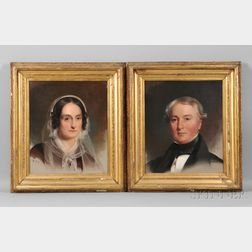 Thomas Sully (American, 1783-1872)      William Platt and Maria Taylor Platt: A Pair of Portraits