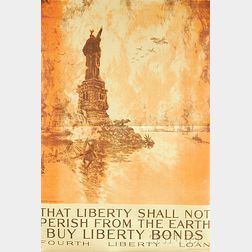 Joseph Pennell That Liberty Shall Not Perish From the Earth   U.S. WWI   Lithograph Poster