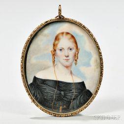 Miniature Portrait on Ivory of a Lady