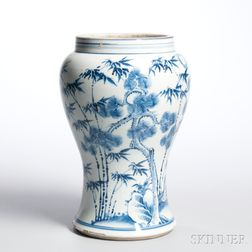 Blue and White Meiping   Jar