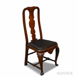 Queen Anne Walnut Carved Side Chair