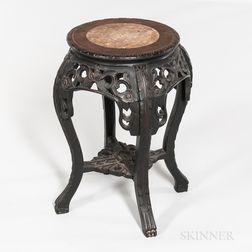 Small Marble-top Four-legged Stand