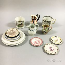 Eighteen Pieces of English Ceramic Tableware.