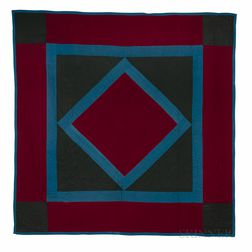 Diamond-in-Square Amish Quilt