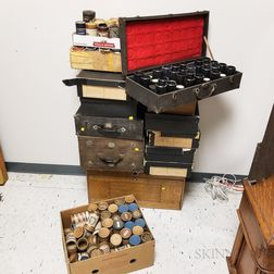 Extensive Collection of Mostly Edison Phonograph Wax Cylinders.     Estimate $800-1,200