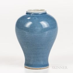 Small Sky Blue-glazed Meiping   Vase