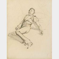 John Singer Sargent (American, 1856-1925)  The Wounded Spanish Dancer