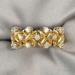 "18kt Gold, Platinum, and Diamond ""Lynn"" Ring, Schlumberger, Tiffany & Co."