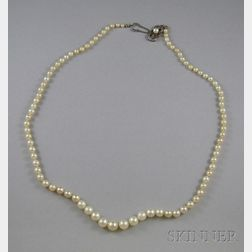 Single-strand Cultured Pearl Necklace