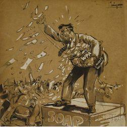 Paule Stetson Loring  (American, 1899-1968)      Portrait of New Deal Program Administrator Aubrey Williams (1890-1965).