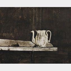 Andrew Wyeth (American, 1917-2009)      Christina's Teapot