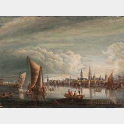 Flemish School, 18th Century      View of the River Schjeldt at Antwerp