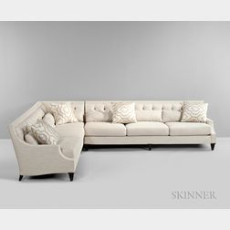 Large Thomas Pheasant for Baker Corner Sectional Sofa
