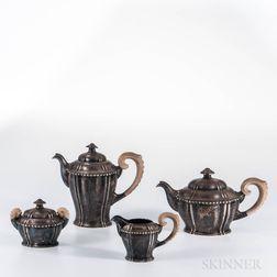 Four-piece German .800 Silver Tea and Coffee Service