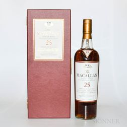 Macallan 25 Years Old, 1 750ml bottle (oc)