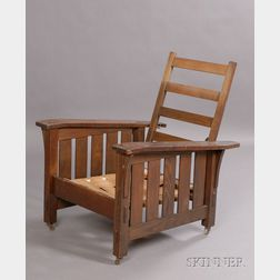 Arts & Crafts Bent-arm Morris Chair