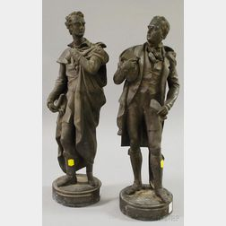 Pair of Late Victorian Cast Metal Figures