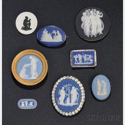 Eight Wedgwood Jasper Medallions