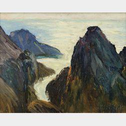 Milton Avery (American, 1885-1965)      Rock Bound Coast
