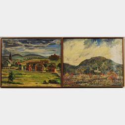 Two Mid-century Oil Landscapes:      William S. Copp (American, b. 1891), Vermont
