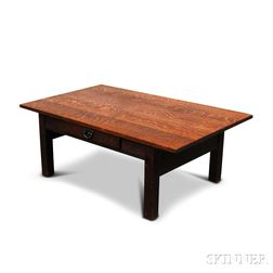 Fumed Oak Low Table Attributed to Gustav Stickley