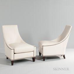 Pair of Thomas Pheasant Bel Air Club Chairs