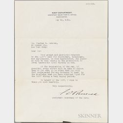 Roosevelt, Franklin Delano (1882-1945) Typed Letter Signed, 16 May 1918.