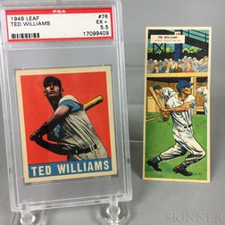 1948 Leaf All-Star Baseball Gum #76 Ted Williams Baseball Card, PSA 5.5 EX+