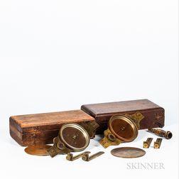 Two Wm. J. Young Surveyor's Compasses