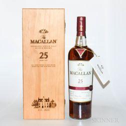 Macallan 25 Years Old, 1 750ml bottle (owc)