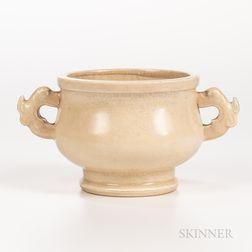 Cream-glazed Gui  -form Censer