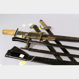 Five 18th and 19th Century Military Swords