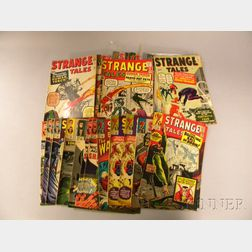 Thirty-eight Silver Age Strange Tales  , and Starring The Human Torch