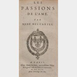 Descartes, Rene (1596-1650) Les Passions de L'Ame