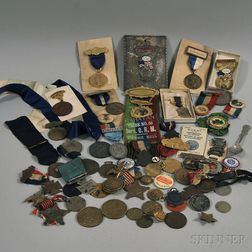 Group of Assorted Medals and Ribbons