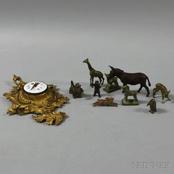 Group of Mostly Bronze Animal Figures