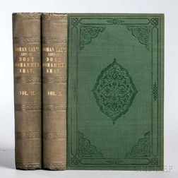 Lal, Mohan Zutshi (1812-1877) Life of the Amir Dost Mohammed Khan of Kabul: with his Political Proceedings towards the English, Russian