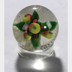 Glass Fruit Paperweight