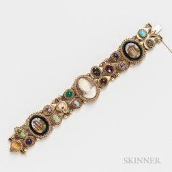 14kt Gold Gem-set Slide Bracelet