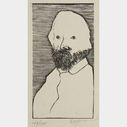 Leonard Baskin (American, 1922-2000)      Lot of Three Portraits: William Morris,   Camille Corot