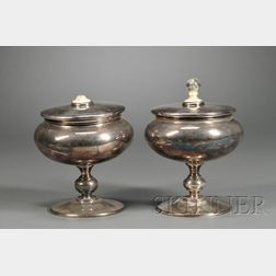 Pair of Marie Zimmermann (1879-1972) Metalwork Vessels