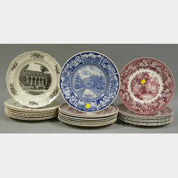 Twenty-three Assorted Wedgwood University and College Ceramic Plates
