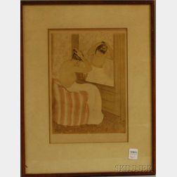 After Mary Cassatt (American, 1844-1926)      Toilette.