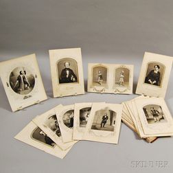 Approximately Sixty-three Engravings of Shakespeare Actors and a Folio of Theater   Ephemera