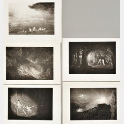 John Martin (British, 1789-1854)      Five Plates Illustrations from John Milton's Paradise Lost